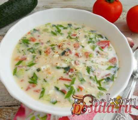 Окрошка с курицей и помидорами фото рецепт приготовления