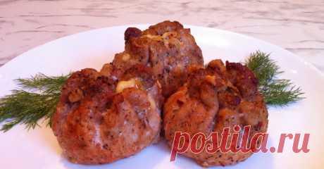 Мясные мешочки с сыром и грибами — Sloosh – кулинарные рецепты