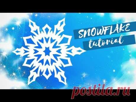 Снежинка из бумаги.  Приветствую вас, мои дорогие подписчики и гости моего канала! В этом видео я покажу, как сделать шестиконечную снежинку из бумаги шаг за шагом для украшения окна к Новому Году!