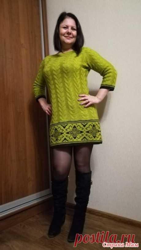 Платье-туника с жаккардом от Tatka74