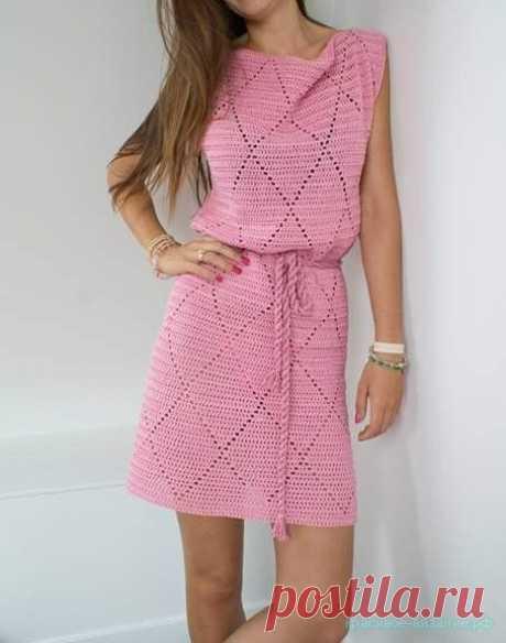 Летнее платье крючком — Красивое вязание
