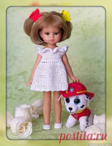 Мастер-класс по вязанию Платья для малышки крючком для кукол Paola Reina mini / Вязание для кукол / Бэйбики. Куклы фото. Одежда для кукол
