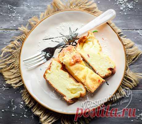 Творожная запеканка на сковороде без духовки, рецепт с фото