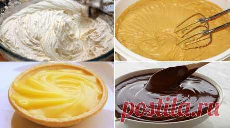 Простые и вкусные кремы для тортов и пирожных. 7 лучших рецептов Замечательная подборка, забирай и сохрани. Пригодится!