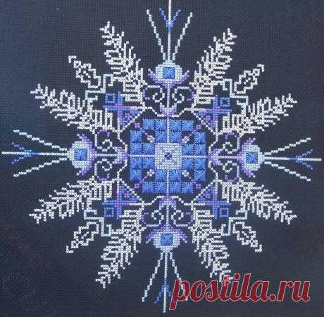 Снежинки и зимние узоры спицами: 20 узоров для вязания в технике жаккард и вышивки (часть 1) | Рукоделие с Татьяной Н | Яндекс Дзен