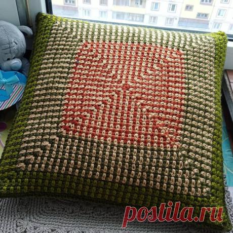 Вязаные наловочки (чехлы) на подушки | О.Р. | Яндекс Дзен