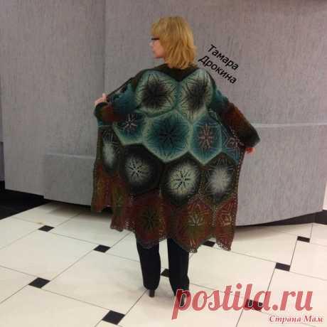 Пальто в стиле бохо из мотивов спицами. - Вязание - Страна Мам