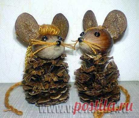 Очаровательные мышки из орехов и скорлупок: идеи и мастер-классы » Женский Мир