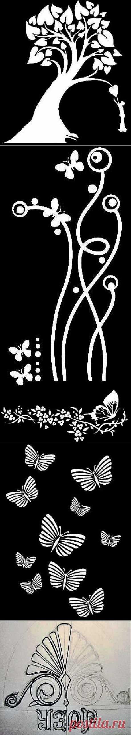 @ Декор стен своими руками – трафареты для декора стен | МОЙ МИЛЫЙ ДОМ – идеи рукоделия, вязание, декорирование интерьеров