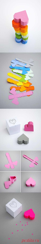 Boxed geometric heart | Mini-eco