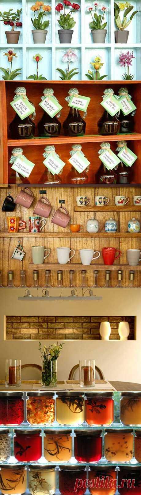 Настенные полки в кухне: место для хранения или украшение? | Благоустройство дома