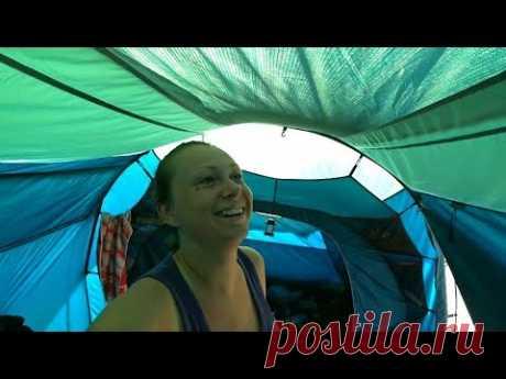 Выживание на берегу Моря. Железный Порт 2020 отдых в палатках! Как прошел мой день.