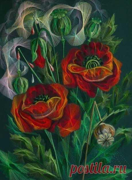 Вышитые картины Людмилы Сашко: калейдоскоп красок и мотивов | Создавай сам | Яндекс Дзен
