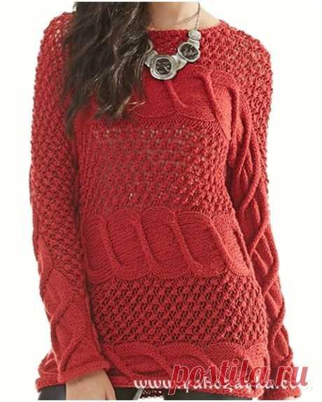 Простые и красивые пуловеры, платья и другие модели спицами. | Ирина СНежная & Вязание | Яндекс Дзен