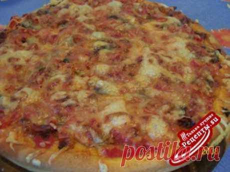 Пицца с грибами » Рецепты.Su - Кулинарные рецепты, рецепты блюд, кулинарные рецепты с фото и видео, салаты, супы, торты, напитки, выпечка, закуски, десерты