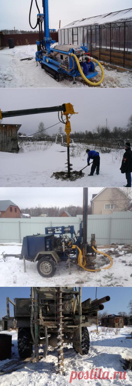Бурение скважин зимой: полная технология