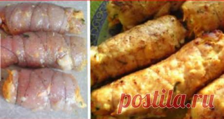 Нежные «Боярские» рулетики из куриной грудки Если хотите приготовить эффектное и одновременно сытное блюдо вам подойдут «Боярские» рулетики.