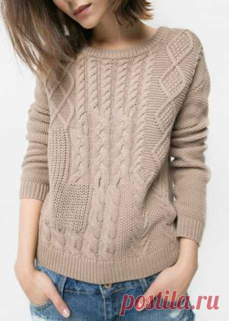 Cable-knit cotton sweater - Woman | MANGO Canada