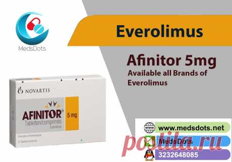 MedsDots is the True Indian Pharmacy which supplies Everolimus 10mg Tablets manufactured by Novartis with excellent services and good quality of  through the world such as USA, China, Hong Kong, UK, Poland, Singapore, Malaysia, Romania, Hungary, Laos, Fiji, New Zealand, Latvia, Belarus, Vietnam, Philippines, Cambodia, Russia, Germany, Cuba, Venezuela etc.MedsDots offering Afinitor by Novartis and alternatives like Rolimus Tablets by Cipla , Evermil Tablets by Glenmark, Evertor Tablets by Biocon