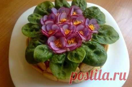 Violet salad - At us is so violet Salad Ingredients: 300gr. smoked ham – to cut with straws. 200 gr. prunes straws (sweet is better to choose with sourness, if prunes, then to reduce a portion) 400 gr. fried with salt and pepper...