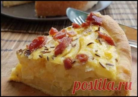 Швабский луковый пирог - тот случай, когда лук вкуснее мяса