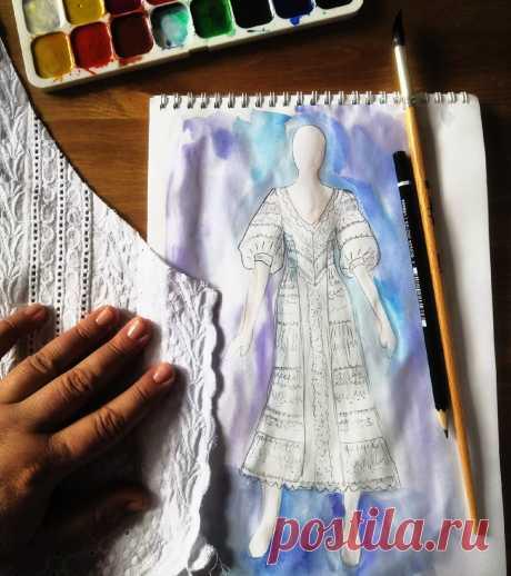 Белое платье из шитья - как добиться стройнящего эффекта?   Время шить   Яндекс Дзен