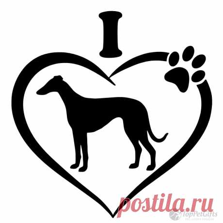 I Love My Greyhound Decal - Los mejores regalos para mascotas