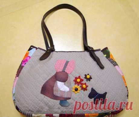 Стеганая сумочка с аппликацией | DIY - PatronesMil