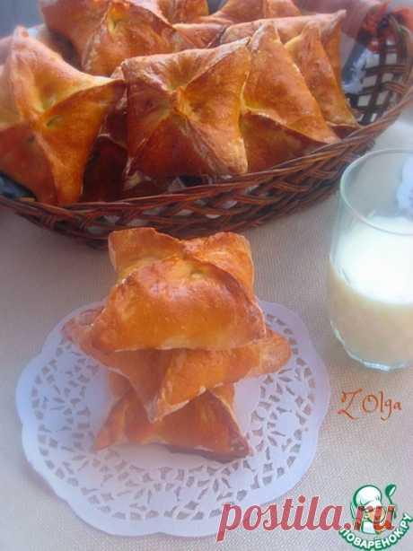 Конвертики с рисом и скумбрией - кулинарный рецепт