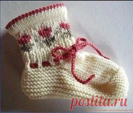Детские носочки с орнаментом  Размер: размер: 1/3 — 6/9 — 12/18 месяцев (2 — 3/4) года длина ступни: 10-11 — 12 (14 — 16) см