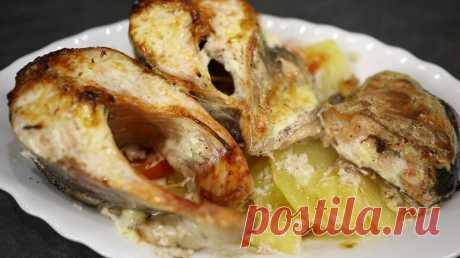 Рыба с картошкой в духовке, видео рецепт | Покулинарим | Пульс Mail.ru Привет! Сегодня я покажу вам как приготовить очень вкусную рыбу с картошкой в духовке. Рыба может быть любой, у меня это форель. Ингредиенты:...