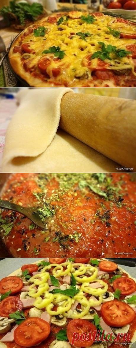 Recipe of thin Italian pizza