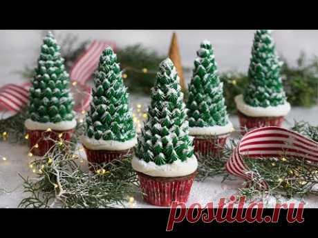 How to Make Christmas Tree Cupcakes