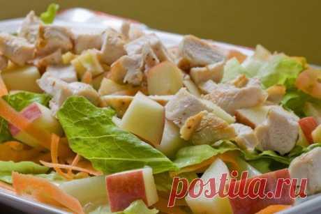 Куриный салат с яблоками и зеленью рецепт – детское меню: салаты. «Еда»
