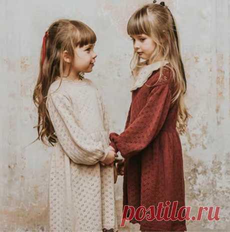 Платья для маленьких девочек возрастом от 1 года до 6 лет, свитер зимнее вязаное платье для маленьких девочек красивое детское трикотажное платье с длинными рукавами в винтажном стиле