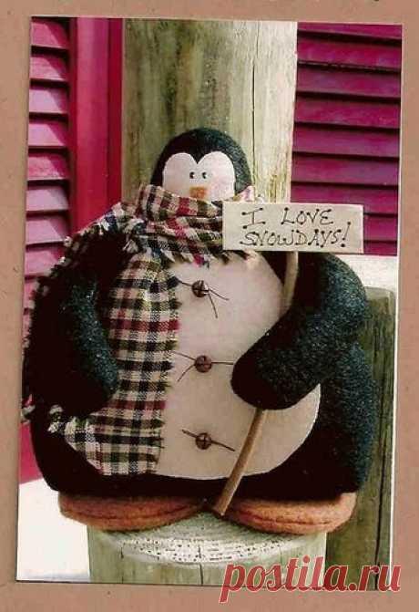 Выкройки мягких игрушек. Пингвинчик / Тильда, мягкие игрушки своими руками, выкройки / КлуКлу. Рукоделие - бисероплетение, квиллинг, вышивка крестом, вязание