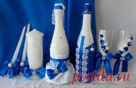 Las botellas de boda por las manos (фото+видео)