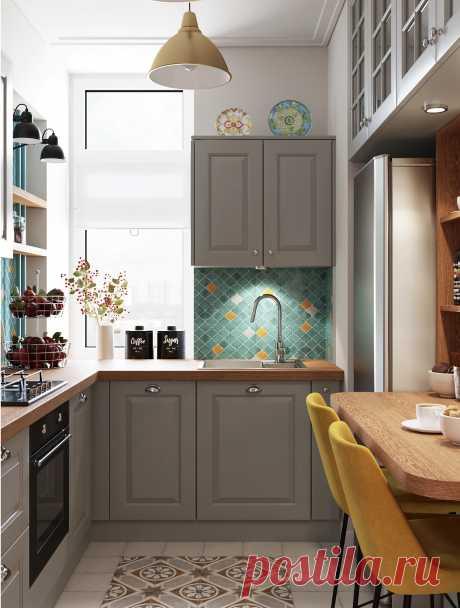 Кухня 7 кв. м: 72 идеи на фото дизайна интерьера от IVD.ru