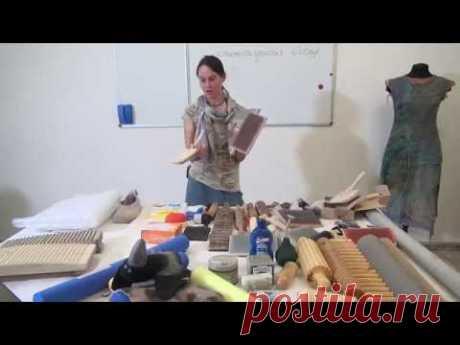 Евгения Боброва. Работа с ручными кардами (ческами). Посиделки. Часть 2.
