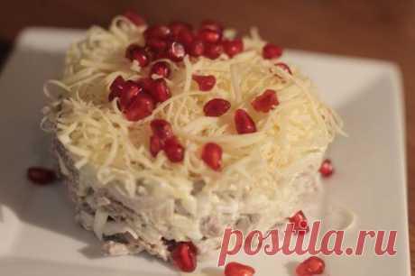 Салат слоеный с языком «Капли страсти» | LolaModa женский онлайн журнал