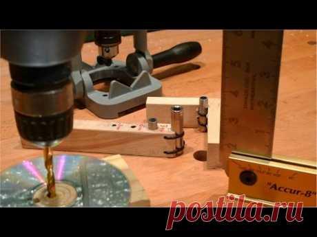 Столярные Хитрости. Перпендикулярное Отверстие без Станка. DIY 90 degree Drilling Guide.