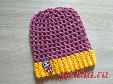 Как очень быстро и просто связать летнюю шапочку для малышки » «Хомяк55» - всё о вязании спицами и крючком