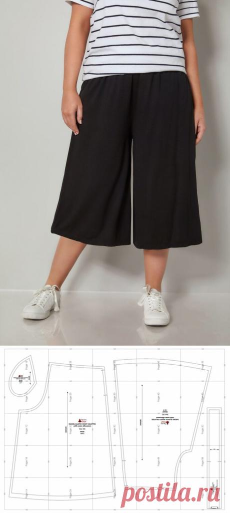 Выкройка широких кюлот летних брюк шортов / Простые выкройки / ВТОРАЯ УЛИЦА - Выкройки, мода и современное рукоделие и DIY
