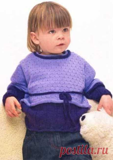 Вязаный пуловер на девочку. Модель для вязания 41