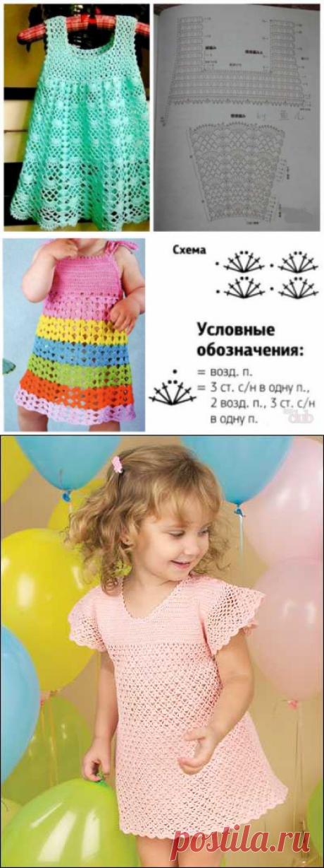 Связать детский сарафан спицами схемы для начинающих