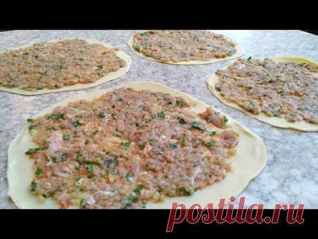 Неимоверная Вкусная Блюда..Турецкая уличная  еда ЛАХМАДЖУН..
