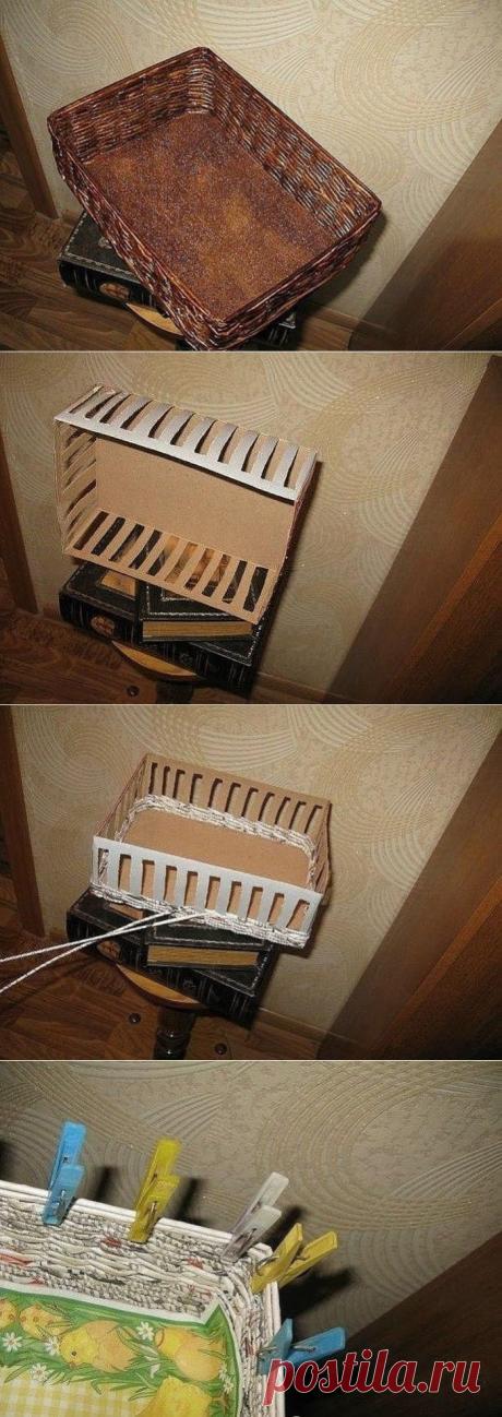 Как быстро сплести коробочку