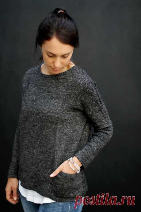 Вязаный свободный пуловер Granito - Вяжи.ру