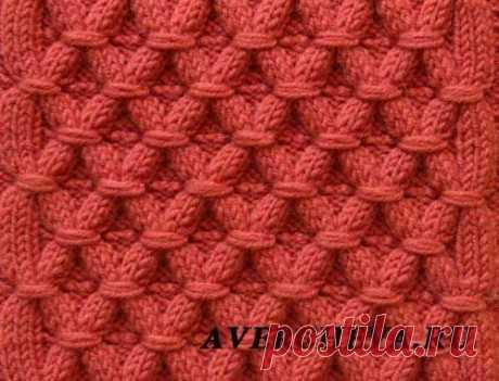100 рельефных узоров спицами, схемы и видео-уроки, Узоры для вязания спицами