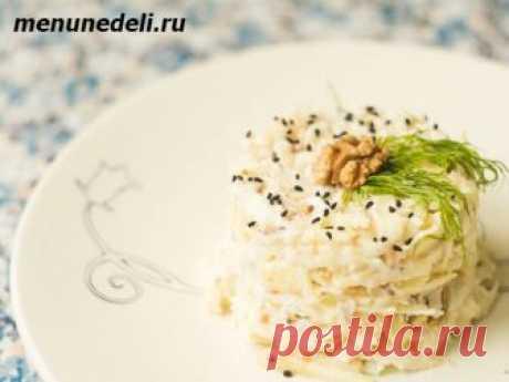 Рецепт салата из стеблей сельдерея с курицей / Меню недели